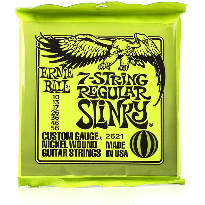 ernie ball 7 string reg slinky 10 56. Black Bedroom Furniture Sets. Home Design Ideas