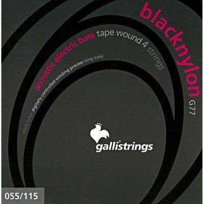 Galli Bass Strings Black Nylon