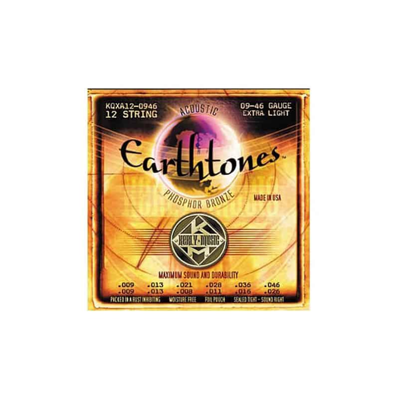 Earthtones 9-46 12 String Guitar Strings