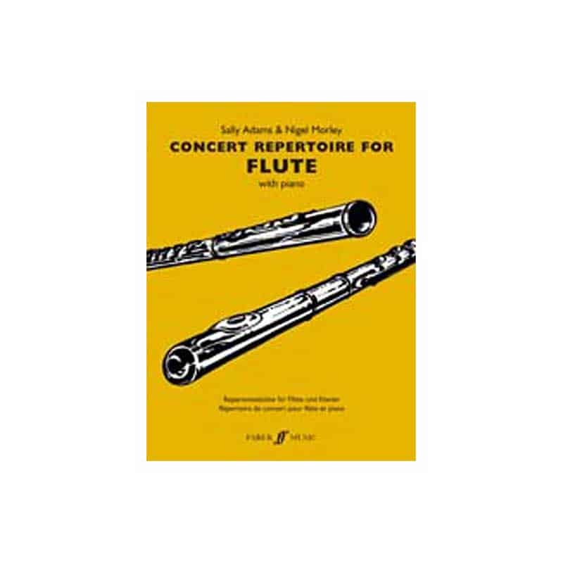 Concert Repertoire For Flute With Piano