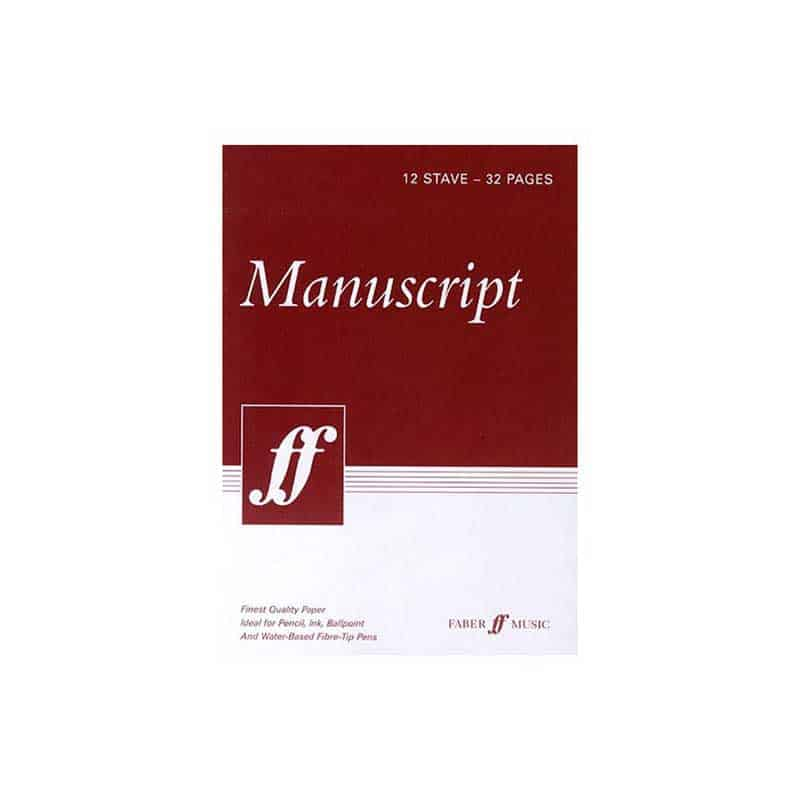 Manuscript 12 Stave 32 Pages White