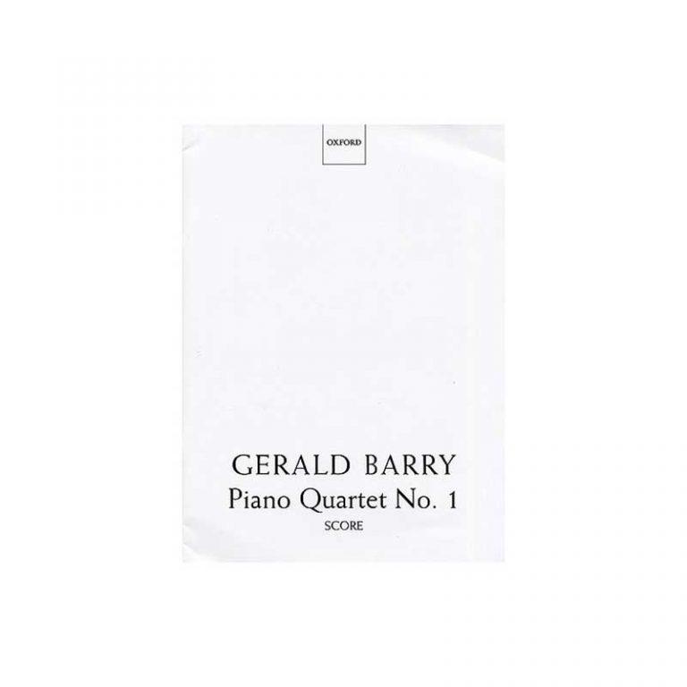 Gerald Barry Piano Quartet No.1 Score