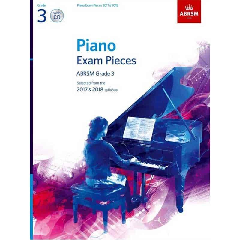 A/B Piano Exam Pieces & Cd Grade 3 2017 2018