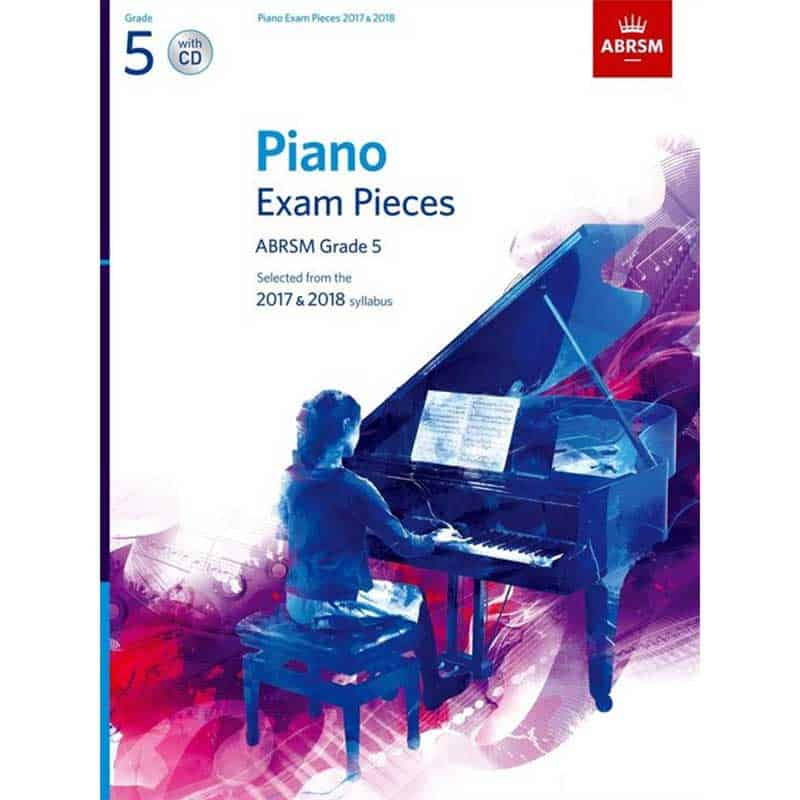 A/B Piano Exam Pieces & Cd Grade 5 2017 2018