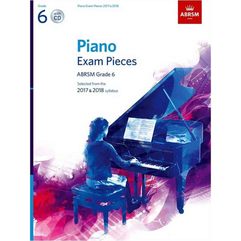 A/B Piano Exam Pieces & Cd Grade 6 2017 2018