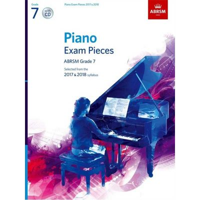 A/B Piano Exam Pieces & Cd Grade 7 2017 2018