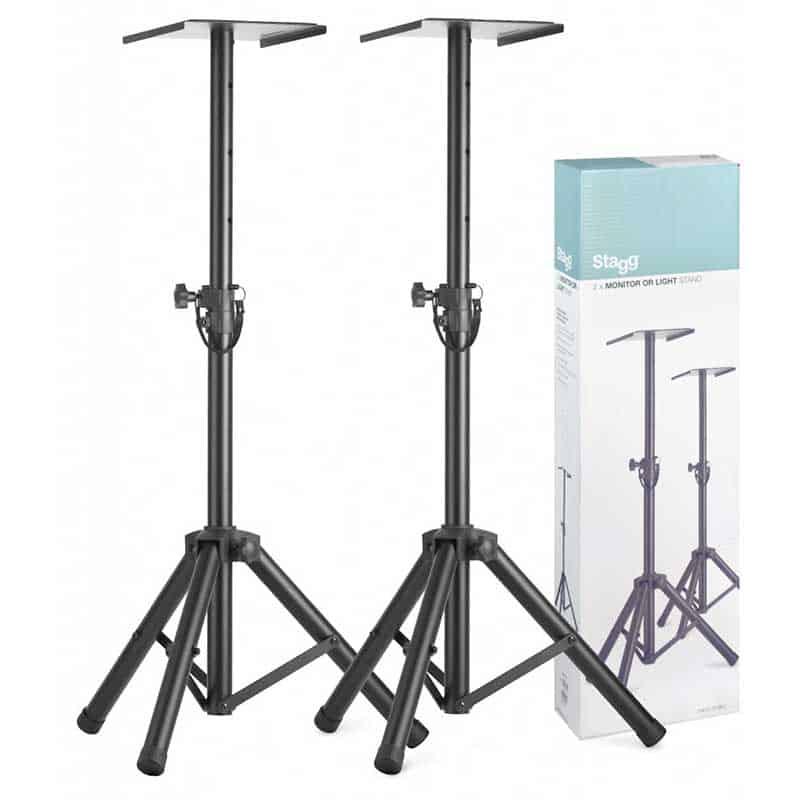 stagg studio monitor stand set of 2. Black Bedroom Furniture Sets. Home Design Ideas
