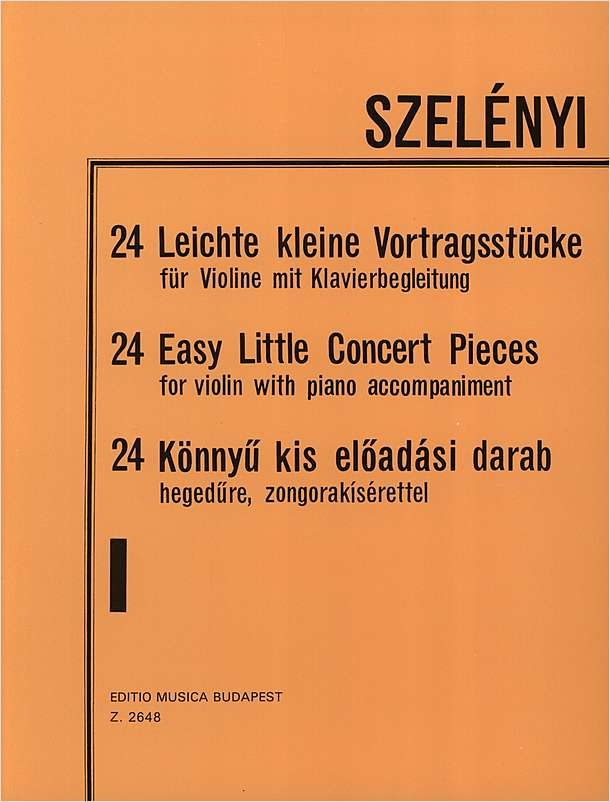 Szelenyi 24 Easy Little Concert Pieces Vln/Pn