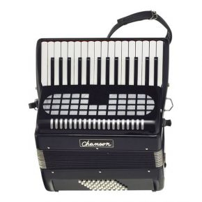 Chanson 48 Bass Accordion Black @ The Sound Shop Drogheda