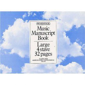 Manuscript large 4 stave 32 page