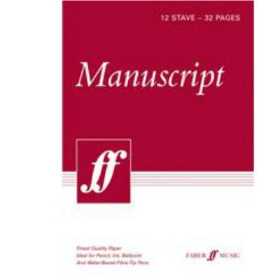 12 Stave 32 Page Manuscript