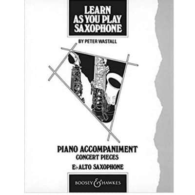 Learn as You Play Sax Piano Accompaniment