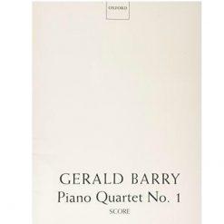 Piano Quartet No. 1 Score by Gerald Barry Oxford University Press