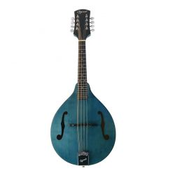 Ozark Mandolin A Model Transparent Finish Blue with Bag