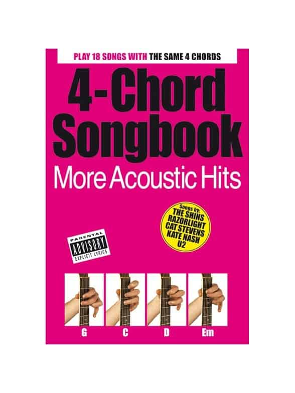 4 Chord Songbook More Acoustic Hits Books Lyrics Chords Music Book