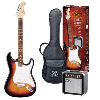SX Electric Strat guitar pack