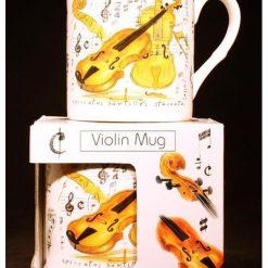 Fine China Mug Violin Design