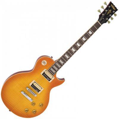 Vintage Guitar Flamed Maple Honeyburst