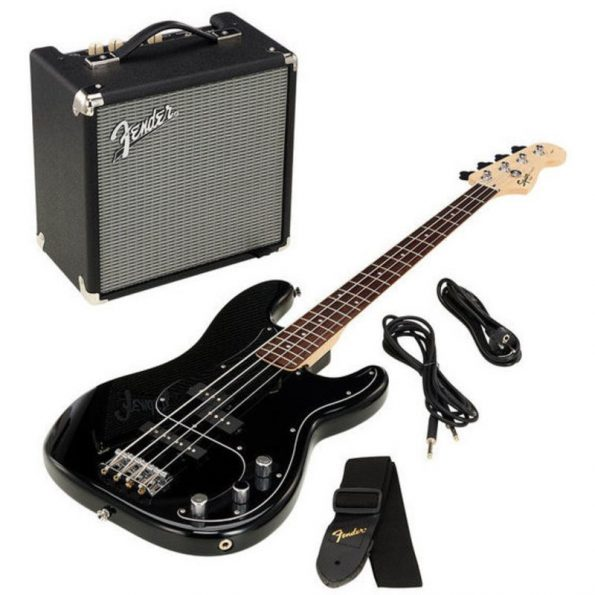 SQUIER AFFINITY PJ BASS PACK BLK