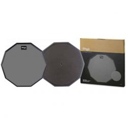 """Stagg 12"""" Single Sided Rubber Practice Pad"""