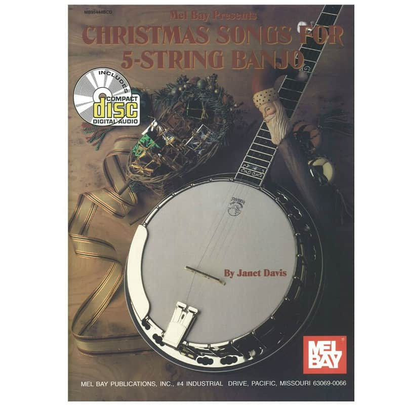 Christmas Songs for 5 String Banjo Book and Cd