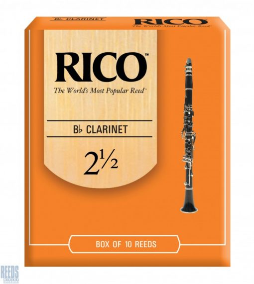Rico Orange Bb clarinet reed - 2.5 (Price Per Reed)