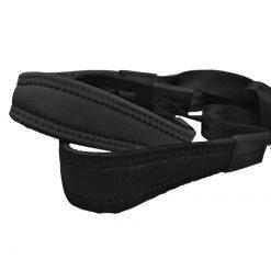 Stagg Fully-adjustable Flex saxophone strap with soft shoulder padding and reinforced neck pads, black