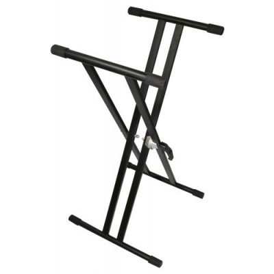 TGI Keyboard stand. TGKS2 Double Braced, Black