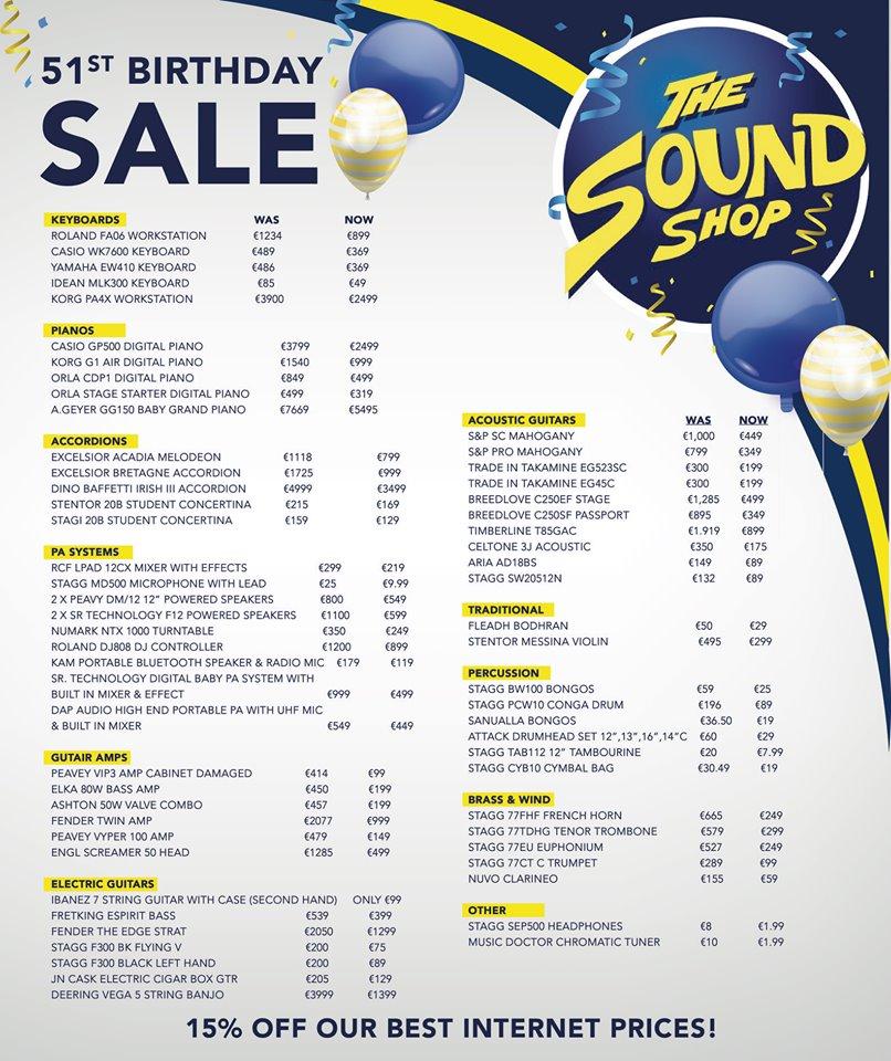 Sound Shop Sale