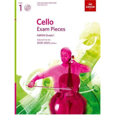 Cello Exam Pieces 2020-2023 Grade 1 score part and cd abrsm