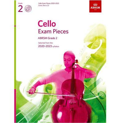 Cello Exam Pieces 2020-2023 Grade 2 score part and cd abrsm