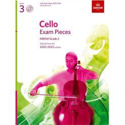Cello Exam Pieces 2020-2023 Grade 3 Abrsm Score Part and Cd