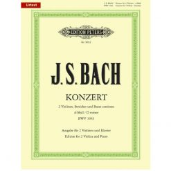 Bach Double Concerto In D Minor BWV 1043 2 Violins
