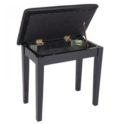 Kinsman Piano Bench with Storage KPB01BK ~ Satin Black