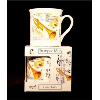 Fine China Mug Trumpet Design
