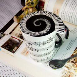 Mug And Lid (Horizontal Music Staves) Mug | Gifts