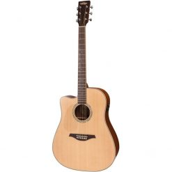 Vintage Dreadnought LVEC501N Left-handed electro-acoustic guitar