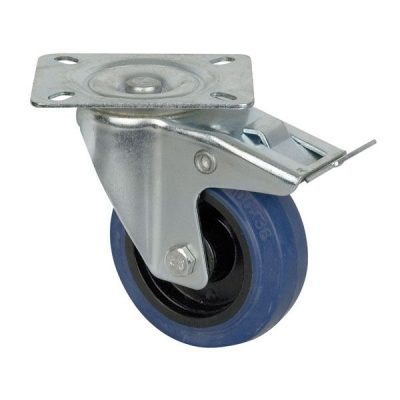 DAP Audio Blue Wheel 100 mm Swivel with brake Flightcases Hardware
