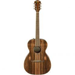 Fender 2019 Limited Edition FA-235E Concert Guitar, Striped Ebony Top #0971252093