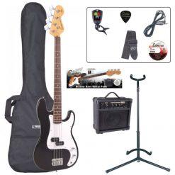 Encore E4 Bass Guitar Pack ~ Black