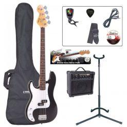 Encore E4 Bass Guitar Pack ~ Left Hand Black EBPLHE4BLK