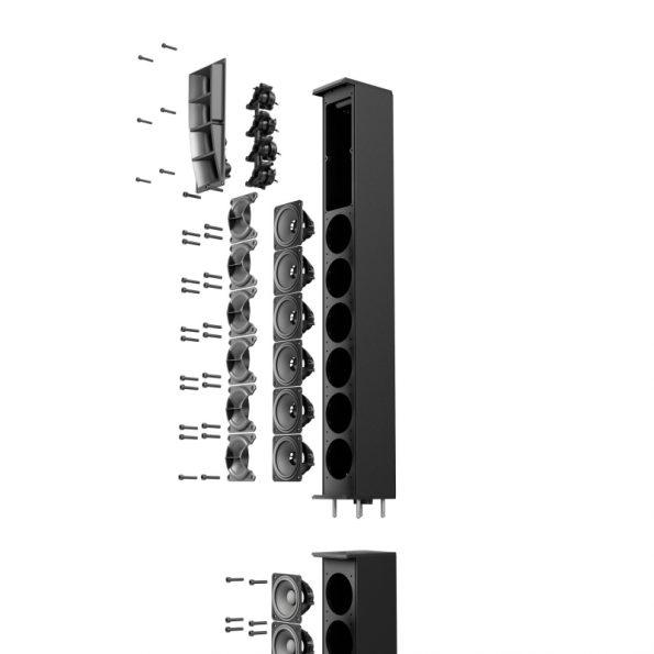 LD Systems MAUI® 44 G2, Cardioid powered Column Loudspeaker