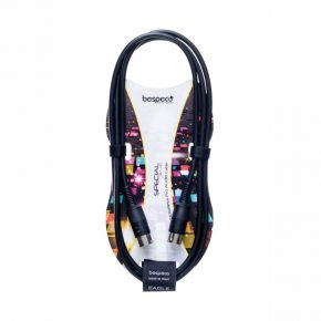 Bespeco Moulded MIDI cable - DIN 5 poles (5 poles wired)
