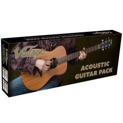 Vintage V300 Acoustic Folk Guitar Outfit V300BKOFT