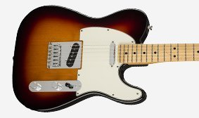 The Player Telecaster body is hand-shaped to original specifications.