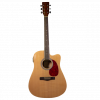 "Koda Folk Acoustic Guitar, 40"" with cutaway, built in pickup and tuner. Natural"