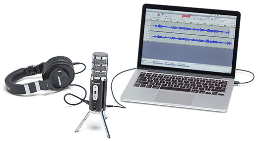 """3, 2, 1... Zero Latency With zero-latency direct monitoring from its 1/8"""" (3.5mm) headphone jack, Satellite produces no delay between the audio you're recording and the audio you're hearing. Its Monitor switch allows you to turn off direct monitoring while still hearing the audio back from your computer."""
