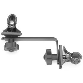 Multipurpose double clamp.  Fully adjustable, sturdy mount