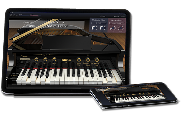 Korg XE20 Digital Ensemble Piano App