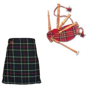 Scottish Bagpipes + Kilt Bundle